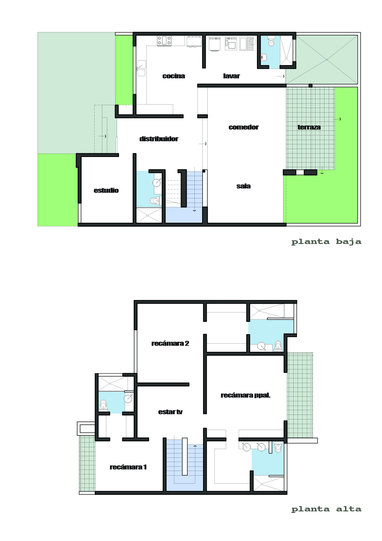 Prob constructora proyectos obras for Plantas arquitectonicas de casas